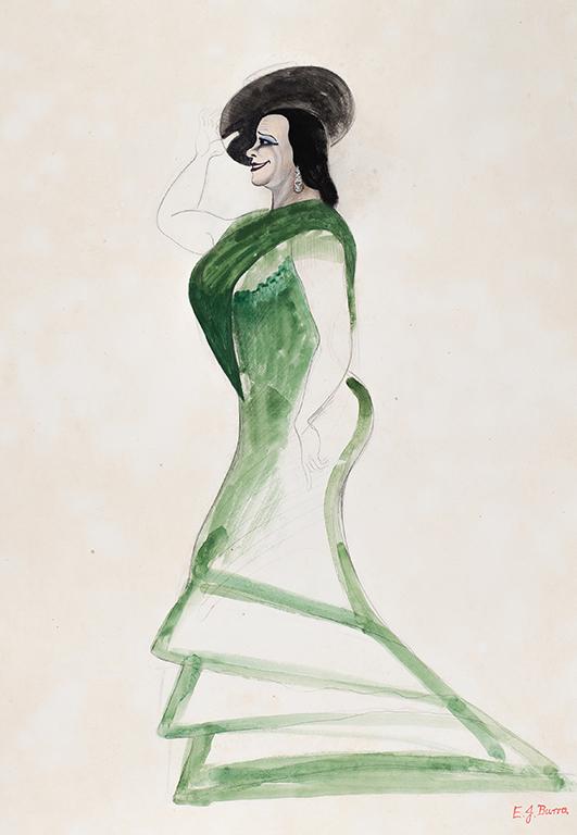 BURRA Edward (1905-1976) - Pastora Imperio (1887-1979) Spanish flamenco dancer and actress.
