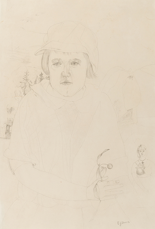 BURRA Edward (1905-1976) - 'Betsy (Elizabeth, the artist's sister 1916-1929) with a cherry twig'.