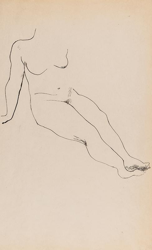 BURRA Edward (1905-1976) - Nude study.