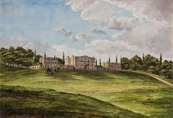 BURTON Inger Maria (nee Whitehead) (1828-1897) - Country House, with archery.