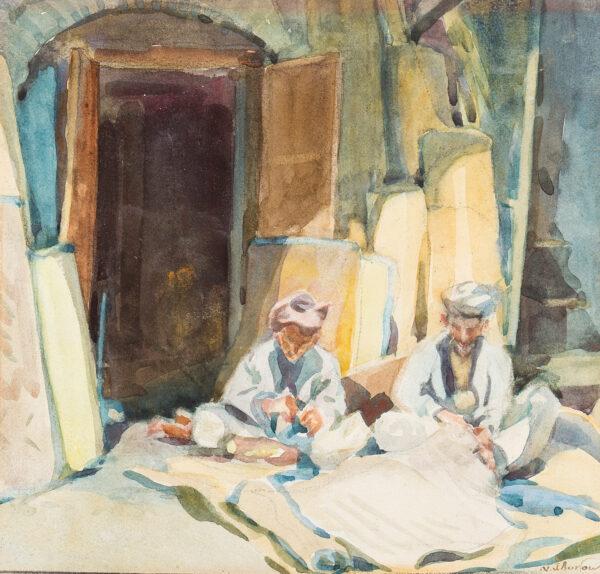 BURTON Nancy Jane R.S.W (1891-1972) - Tailors, Rawalpindi.