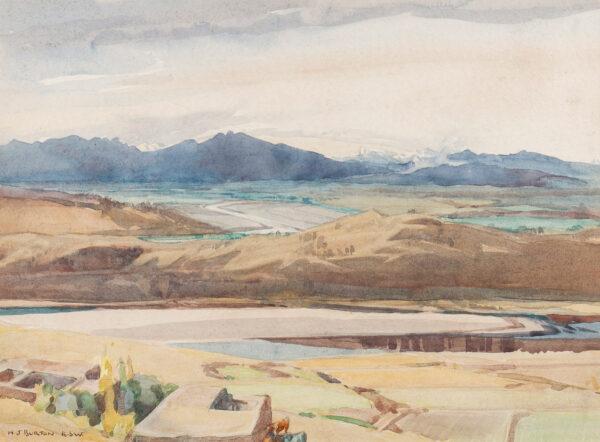 BURTON Nancy Jane R.S.W (1891-1972) - Distant mountains near Rawalpindi.