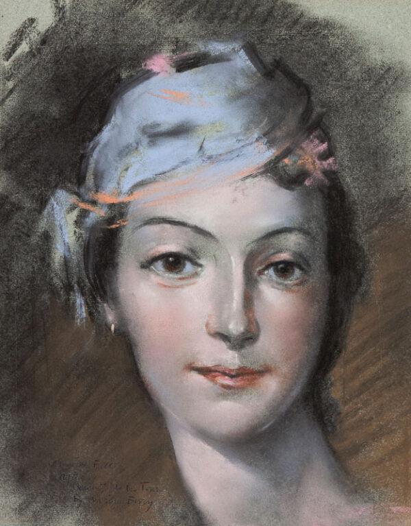 BURY Adrian R.W.S. (1891-1991) - 'Marie Fell / after Quentin de la Tour'.