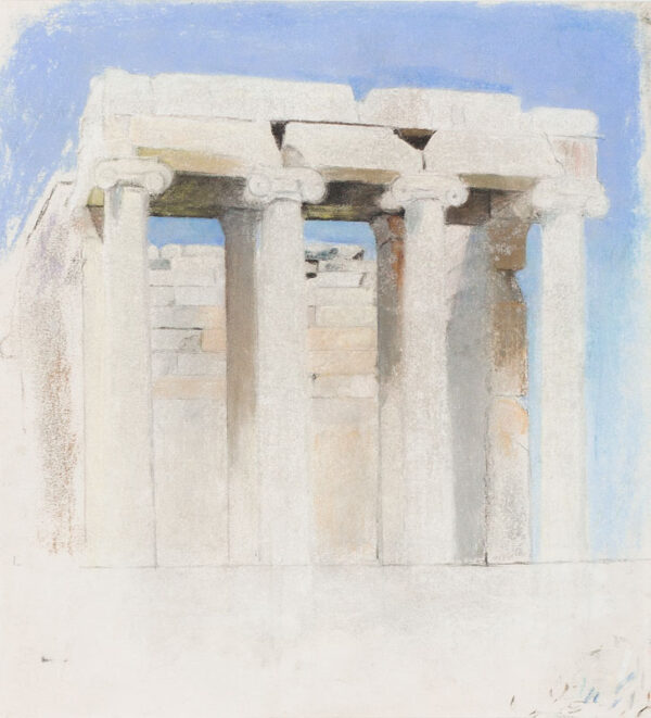 BUSSY Simon (1870-1954) - Athens; Back of the Temple of Athen Nike, the Acropolis.