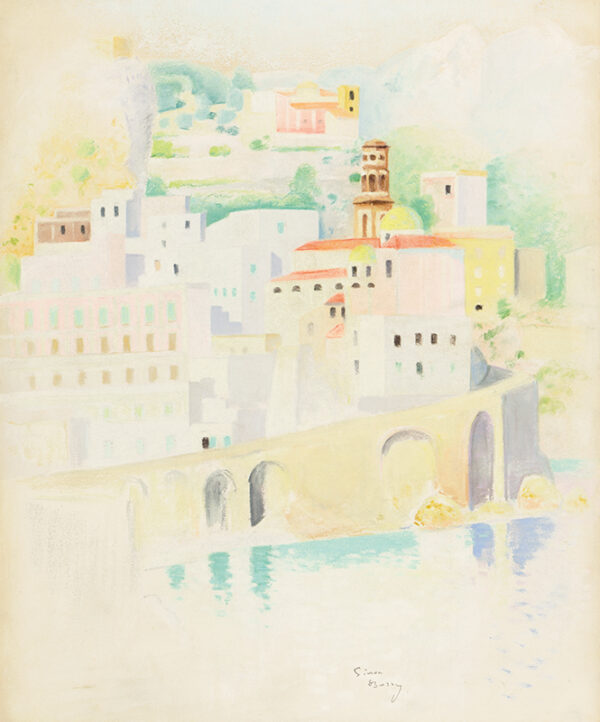 BUSSY Simon (1870-1954) - Atrani, Costiera Amalfitana.
