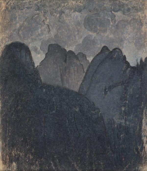 BUSSY Simon (1870-1954) - Mountain Landscape.