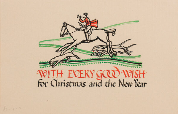 BUTCHER Enid Constance (1902-1991) - 'With Every Good Wish / for Christmas and the New Year'.