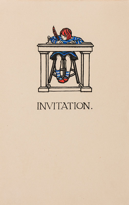 BUTCHER Enid Constance (1902-1991) - An Invitation – writing one.