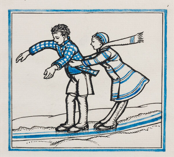 BUTCHER Enid Constance (1902-1991) - Skaters.