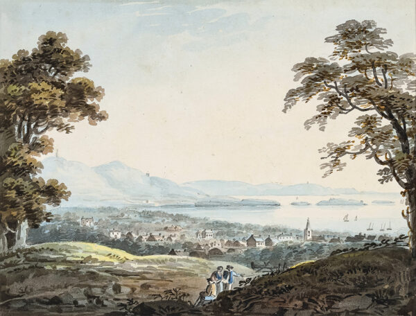 CAMPBELL NAIRN Cecilia (1791-1857) (Daughter of J H Campbell) - Ireland: 'South View of Bray'.