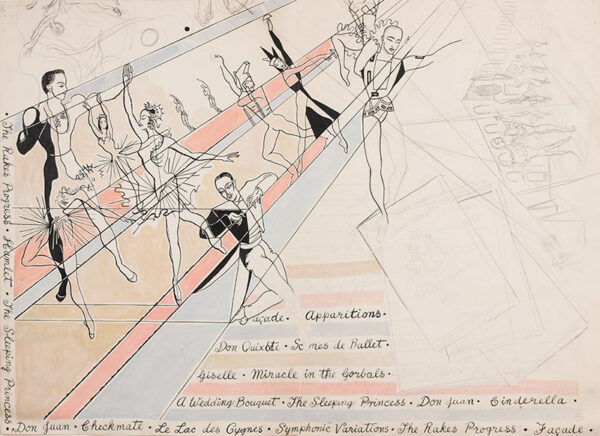 CHAPPELL Billy (William) (1907-1994) - Poster or Programme design for the ballet season of the Royal Opera House, 1950.