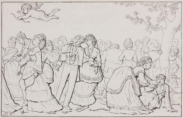 CALDECOTT Randolph R.I. (1846-1886) - 'Cupid in Society' I.