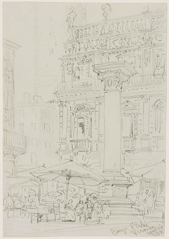 CALLOW William (1812-1908) - 'Verona, Piazza d'erbi' (sic) (delle Erbe).