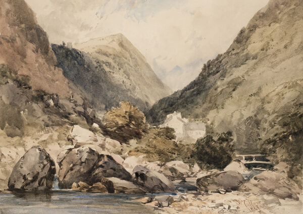 CALLOW William R.W.S. (1812-1908) - 'East Lyn', Exmoor.