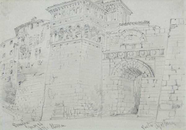 CALLOW William O.W.S. (1812-1908) - 'Porta Agostino /Perugia'.