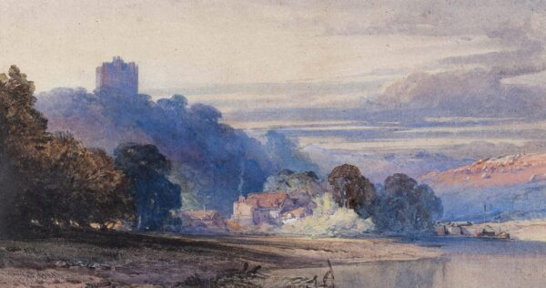 CALLOW William O.W.S. (1812-1908) - Castle above a river valley.