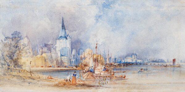 CALLOW William O.W.S. (1812-1908) - A View of Mainz.