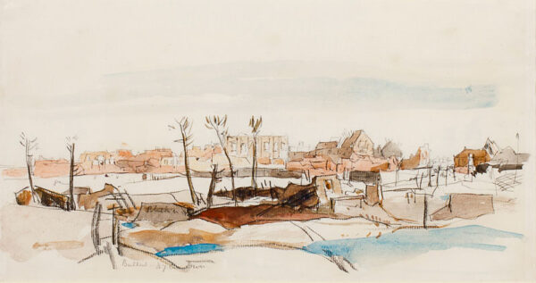 CAMERON Sir David Young R.A. R.W.S. (1865-1945) - 'Bailleul', after the shelling in July 1917.