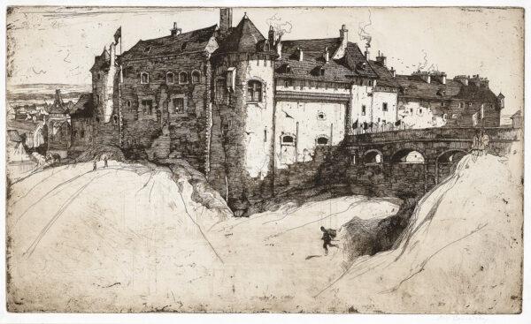 CAMERON Sir David Young R.A. R.W.S. (1865-1945) - 'Dieppe Castle'.