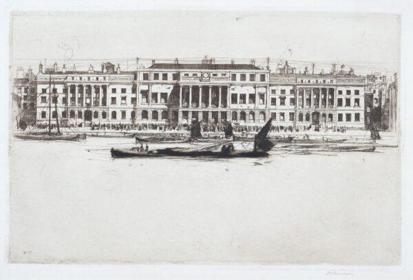 CAMERON Sir David Young R.A. R.S.A. R.E. (1865-1954) - 'Custom House' (R.