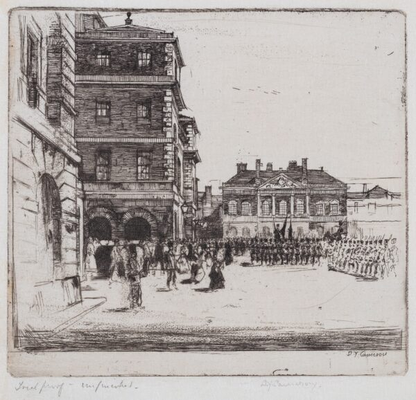 CAMERON Sir David Young R.A. R.S.A. R.E. (1865-1945) - 'Horse Guards, St James's Park' Etching.