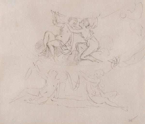 CIPRIANI Giovanni Battista R.A. (1727-1785) - Composition study for a ceiling.