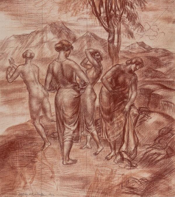 CARLINE Sydney William L.G. (1888-1929) - Bathers.