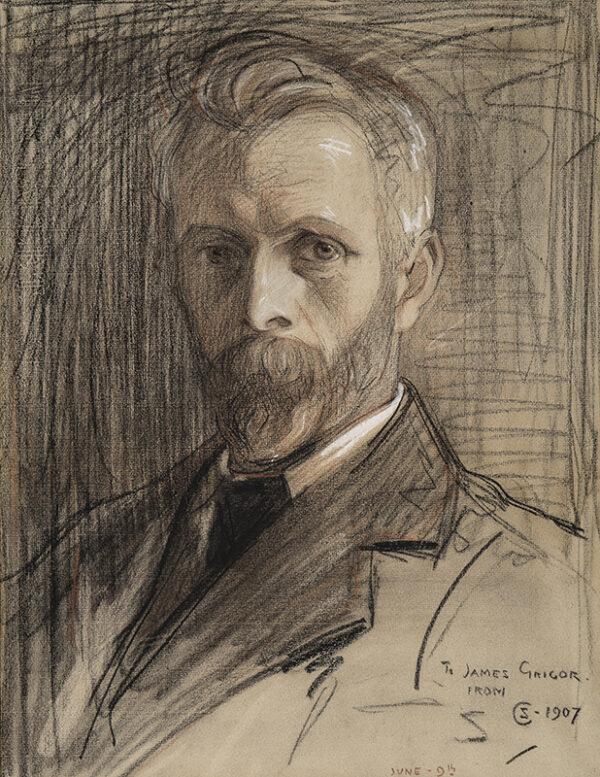 CARMICHAEL Stewart (1867-1950) - Portrait of James Grigor.