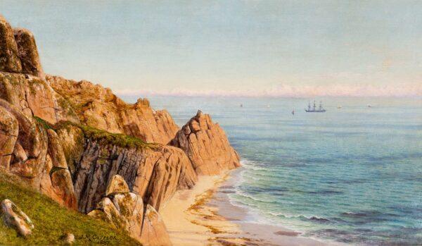 CARRICK John Mulcaster (1833-1896) - 'At St Leven, near Land's End'.