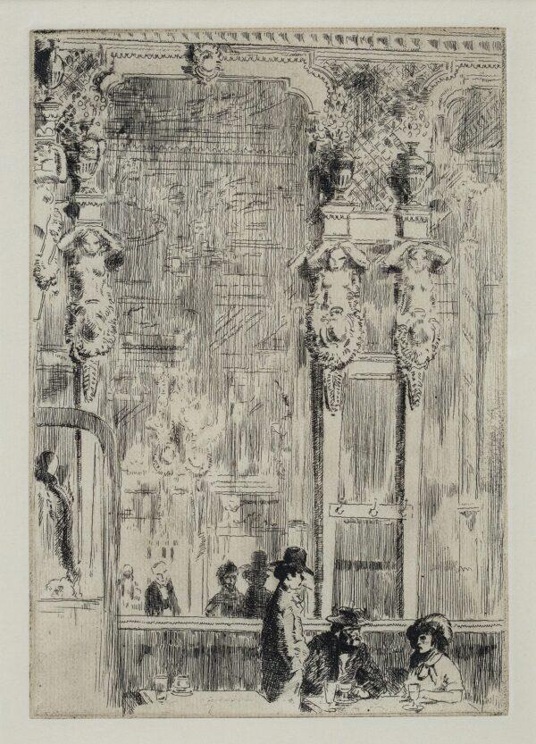 CARTER Frederick A.R.A. (1883-1967) - 'The Café Royal': Augustus John, Dorelia McNeill and William Nicholson.