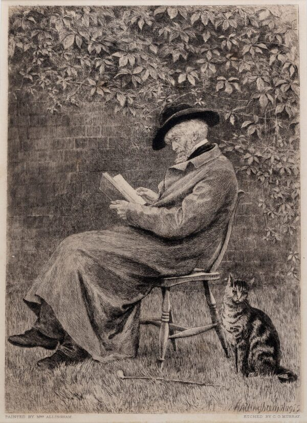 CARLYLE Thomas (1795-1881) (Subject) - Thomas Carlyle in his garden, 1875.