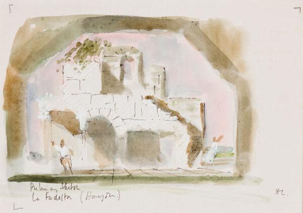 CASSON Sir Hugh P.R.A. C.H. (1910-1999) - 'Preliminary sketch / La Fedelta (Hayden)'.