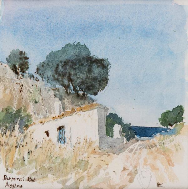 CASSON Sir Hugh P.R.A. (1910-1999) - 'Shepherd's Hut, Aegina'.