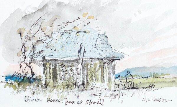 CASSON Sir Hugh P.R.A. C.H. (1910-1999) - 'Chinese House (once at Stowe) – a Capriccio before the restoration.