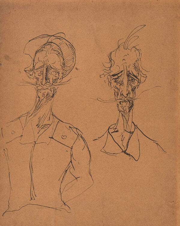 10. CHALIAPIN Feodor (1873-1938) (Attributed to) - Self-portrait as Don Quixote.