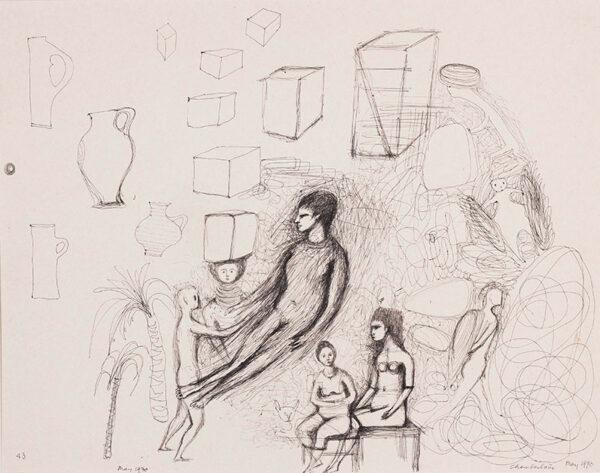 CHAMBERLAIN Brenda (1912-1971) - Pen and ink.