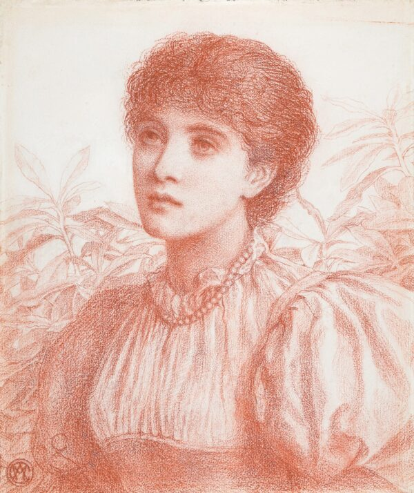 CHAMBERS Alice May (Exh: R.A. 1881-1893) - Portrait of a Young Woman.