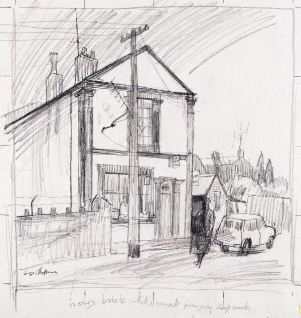 CHAPMAN George (1908-1993) - Corner Shop, the Rhondda.