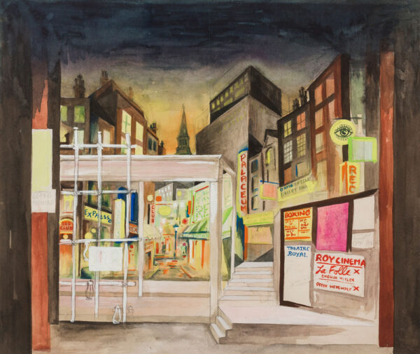 CHAPPELL Billy (William) (1907-1994) - Soho: set design for a ballet or musical revue.