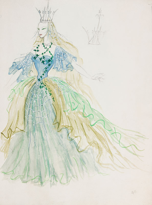 CHAPPELL Billy (William) (1907-1994) - Costume design for a Faery Queene.