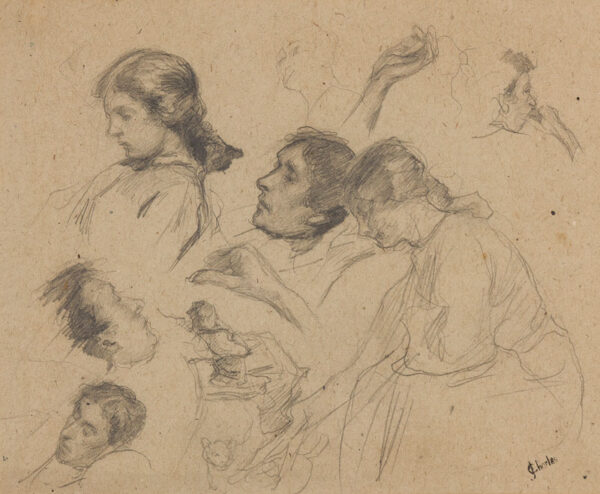 CHARLES James (1851-1906) - Figure studies.