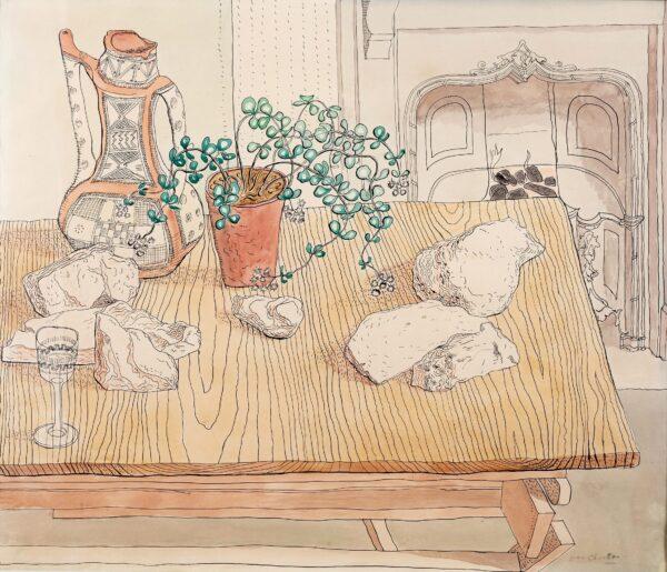 CHARLTON Evan (1904-1984) - Table-top still-life.