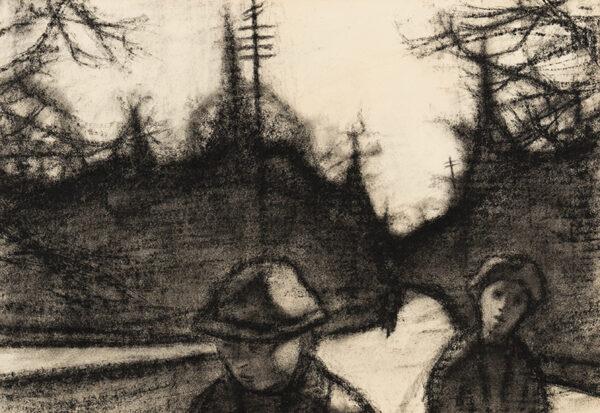 CHEESMAN Harold R.W.S. (1915-1982) - 'Figures at road junction'.