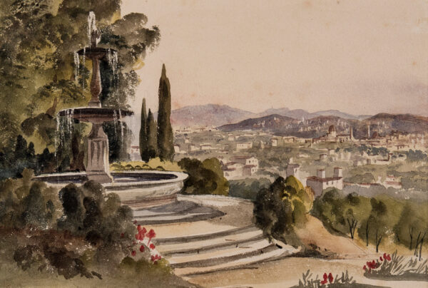 CHENEY (Robert) Henry (1801-1866) - 'La Petraia, August 13th' – a view over Florence.