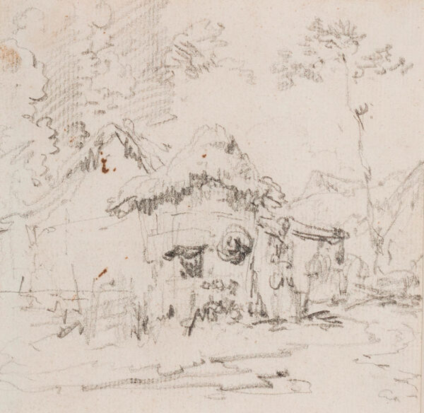 CHINNERY George (1774-1852) - Palm frond huts.