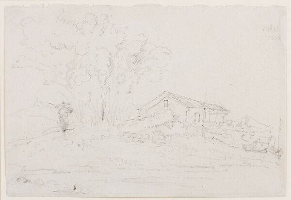 CHINNERY George (1774-1852) - House and trees, Macao(?).