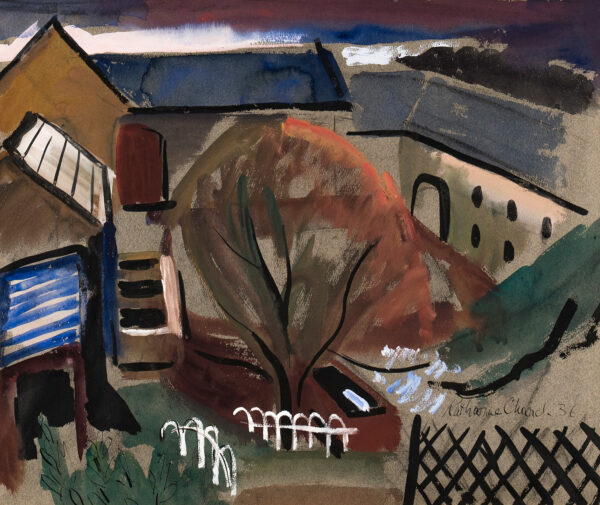 CHURCH Katherine (1910-1999) - 'The Farmyard'.