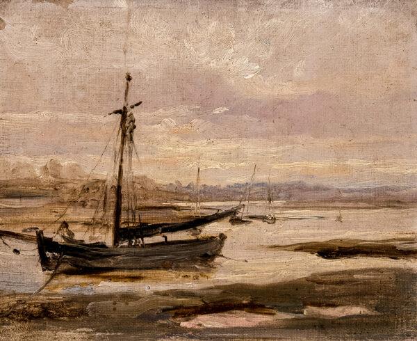 CHURCHYARD Thomas (1798-1865) - Smack at low tide.