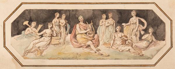 CIPRIANI Giovanni Battista R.A. (1727-1785) (Circle of) - Apollo and his lyre.