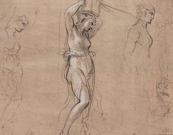 CIPRIANI Giovanni Battista R.A. (1727-1785) - Recto: Studies of caryatids.